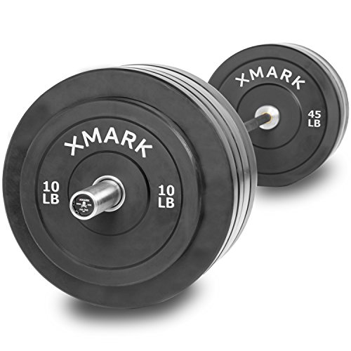 The Deadlift Package Featuring the XMark VOODOO Commercial Olympic Bar, Hard Chrome with Black Manganese Phosphate shaft, 185,000 PSI and 280 lbs. of XMark Superb Quality Olympic Bumper Plates by XMark
