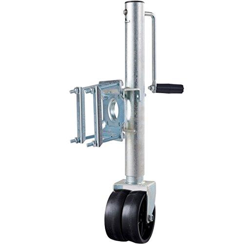 Goplus Trailer Tounge Jack with Dual Wheels Heavy-Duty Swivel Boat Utility RV Trailer Jack 1500 Lbs Capacity (Trailer Tongue Lift)