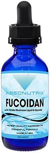 Absonutrix Fucoidan with Shitake Mushroom Liquid and Glyceride 500 mg Helps Increase Immunity