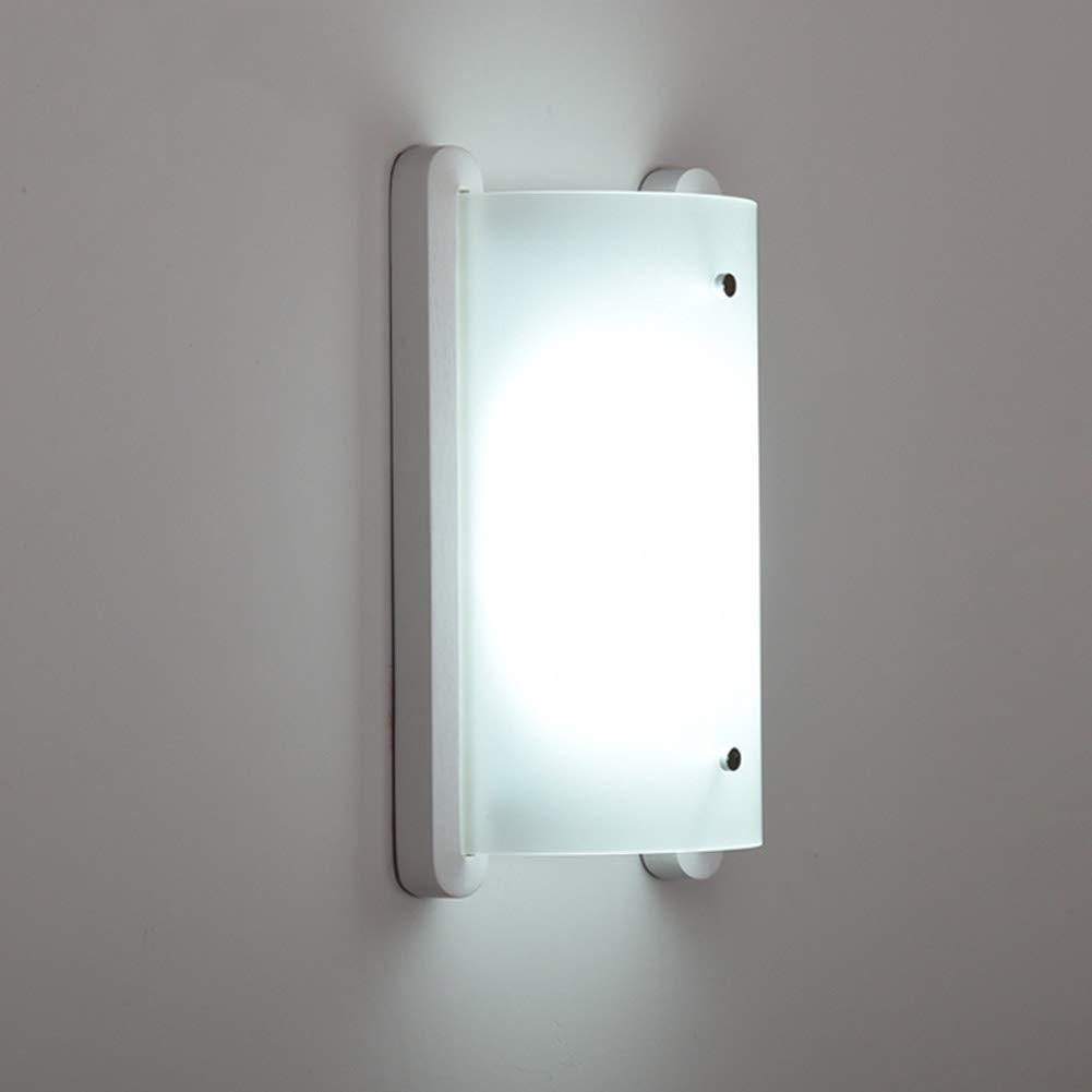 Holz Wandleuchte Weiß Licht 1-Licht Weiß Für Schlafzimmer Tür Acryl Lampenschirm