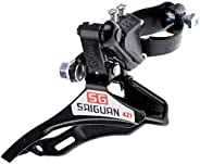 Clamp-On Front Derailleur Bottom,Top and Bottom Pull Front Mech/Derailleur Clamp 31.8mm for Mountain Bicycle
