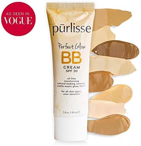 purlisse BB Tinted Moisturizer Cream SPF 30 for All Skin Types - Medium, 1.4 Ounce
