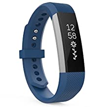 """Fitbit Alta HR and Alta Bands, MoKo Classic Replacement Soft Wristband with Metal Clasp For Fitbit Alta / Fitbit Alta HR, Fits 5.31""""-8.07"""" (135mm-205mm) Wrist, INDIGO"""