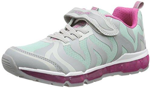 Geox Android Girl B, Zapatillas Para Niñas Varios Colores (Grey / Mint C1F3Z)