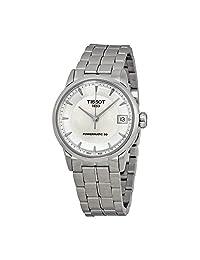 Tissot Luxury Powermatic 80 Mother of Pearl Dial Stainless Steel Ladies Watch T0862071111100