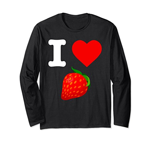 Nature Dessert (Unisex I Love Strawberry Favorite Fruit Strawberries Nature Dessert XL: Black)