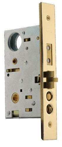 (Baldwin 6320.003.L Left Handed Handleset and Knob Entrance Mortise Lock with 2-1/2-Inch Backset, Lifetime Polished Brass)