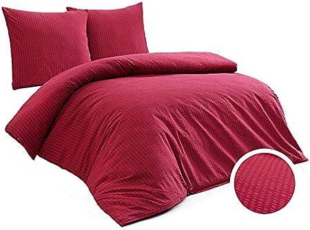 Bed Linen Set 155x 220 cm 40x 60 cm 40x 80 cm 80x 80 cm Pure White