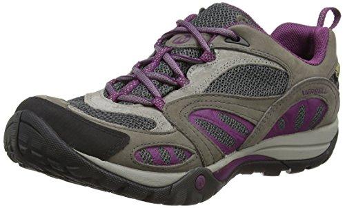 Merrell WoMen Azura Gore-Tex Low Rise Hiking Boots Grey (Castle Rock/Purple)