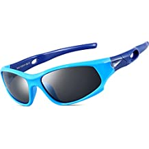 ATTCL Kids Hot TR90 Polarized Sunglasses Wayfarer Style For Boys Girls Child Age 3-10