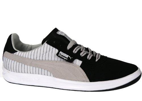 Puma California Menns Klassisk Semsket Skinn Og Lerret Topp Mote Sneaker  Chicago- Svart / Grå