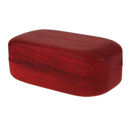 wood-grain-print-oversize-rectangular-clam-shell-eyewear-carrying-hard-case-red
