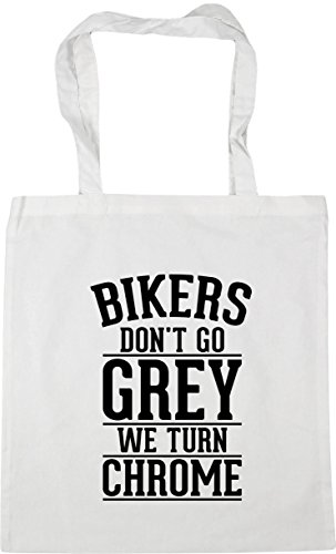 We Tote X38cm 10 Bag Bikers Grey Hippowarehouse 42cm Shopping Chrome White Go Litres Gym Turn
