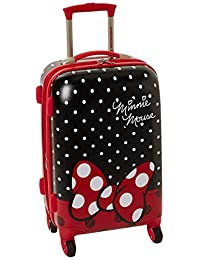 American Tourister Disney Minnie Mouse All Ages Hard Side Spinner, Minnie Mouse Red Bow, International Carry-on