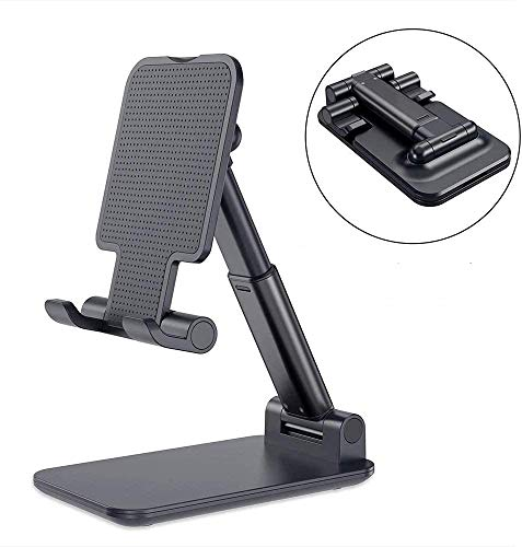 Barsone Adjustable Tablet(0-72°)/Phone Stand, Anti-Slip Adjustable iPad Stand Holder,Universal Multi Angle Stand Compatible with iPhone Smart Cell Phone/Tablet/iPad (Black)