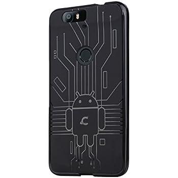 free shipping ba76e 154f9 Huawei Nexus 6P Case, Cruzerlite Bugdroid Circuit Case Compatible for  Huawei Nexus 6P - Retail Packaging - Black