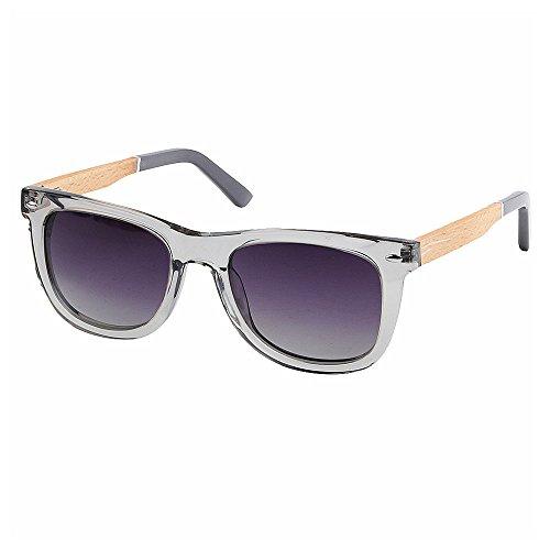 TAC Lente gafas gris forma sol gafas Transparente y de de playa de al de Retro Conducción Acetato madera libre Protección de aire polarizadas sol UV hombres Gris Gafas fibra de marco pesca g esquí cuadrado xwaT00Xn