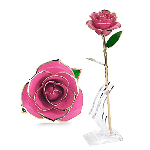 Pink Rose Gold Flower - 5