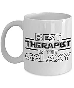 Best Therapist in the Galaxy White Ceramic Tea or Coffee Mug - Unique Star Wars Themed Fan Gift