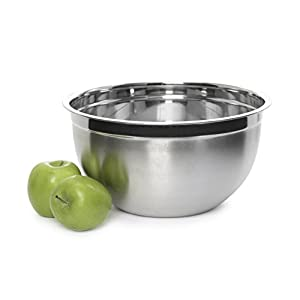 YBMHOME DEEP PROFESSIONAL QUALITY STAINLESS STEEL MIXING BOWL FOR SERVING MIXING COOKING AND BAKING 1173 (1, 12 Quart)