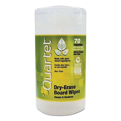 Quartet Dry Erase Board Wet Wipes - 50 Count, Moist towel...