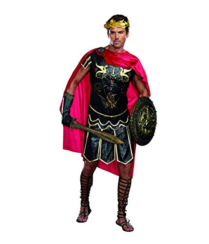 Dreamgirl Men's Julius Caesar Roman God Costume, Black, -