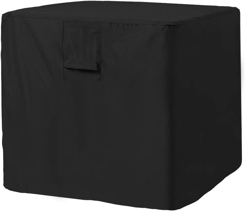 "YMBASKET Large Air Conditioner Cover Universal Veranda AC Unit Cover for Standard American Furniture Central Outdoor Vent Full Cover -Square Fits up to 34""x 34""x 30"""