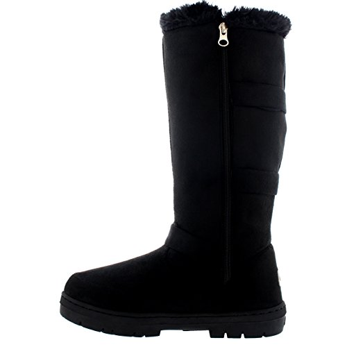High Zip Black Holly Knee Winter Waterproof Slouch Snow Boots Womens Long 44x8YH