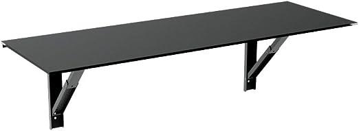 Mesa Abatible Single Vulcano - 150x40 - Color Negro Brillo ...