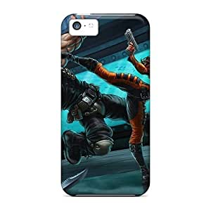 MMZ DIY PHONE CASEipod touch 5 Hard Back With Bumper Silicone Gel Tpu Case Cover Crime Fighter