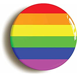 RAINBOW BADGE BUTTON PINs – LGBT GAY PRIDE DIVERSITY PEACE