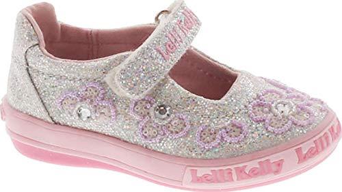 (Lelli Kelly Kids Girl's Fiore Dolly Flats Shoes,Silver Glitter,27 )
