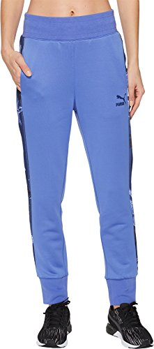 PUMA Women's Archive T7 Track Pants Baja Blue Medium