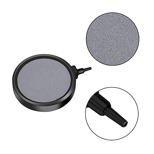 Micropore Diffuser - T-best Air Stone Disc,1 PCS Aquarium Bubble Disk/Air difusser Bubble Diffuser 10.7CM Pond Pump Hydroponics Decor for Decorative Hydroponics Aquarium Fish Tank Pump