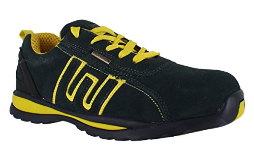 Groundwork Gr86, Unisex Adults' Safety Trainers Navy Yellow