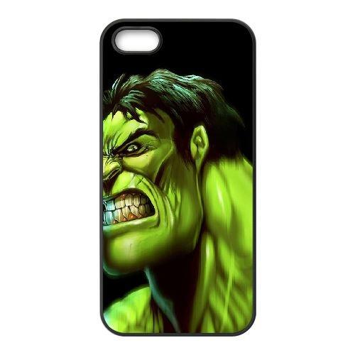 Hulk Art coque iPhone 5 5S cellulaire cas coque de téléphone cas téléphone cellulaire noir couvercle EOKXLLNCD24483
