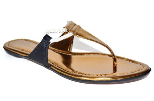 Elie Tahari Womens Bailey Platte String Sandaal Schoenen Zwart