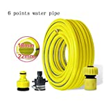Multi-function tube Garden Hose, Household Water Pipe, Antifreeze, Cold And Wear Resistant, Car Wash Explosion-proof Pvc Rubber Plastic Pipe Flushing the car (Design : 6 points, Size : 40m)