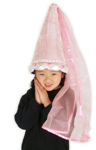 elope Pink Princess Plush Costume Cone Hat for Girls by elope