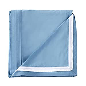 QuickZip Crib Extra Zip-On Sheet, 100% Cotton, Blue - Goes With QuickZip Crib Sheet Base Sold Separately