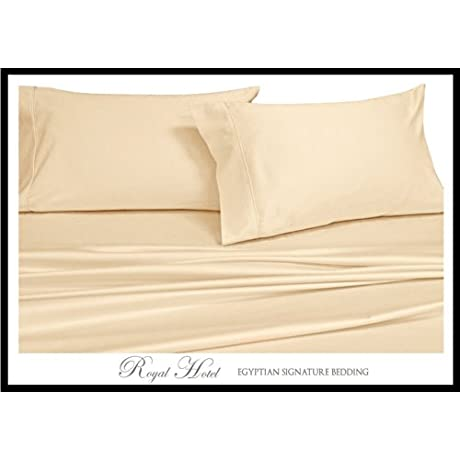 Royal Hotel S 8pc Solid Ivory Queen Size Bed In A Bag Down Comforter Set 650 Thread Count Cotton Blend Wrinkle Free