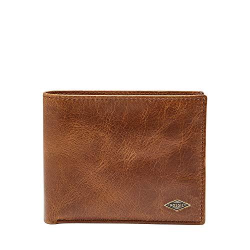 Fossil Men's International Combination Wallet, Dark Brown, One Size ()