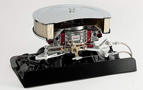Lokar XTCB-4150 Midnight Series Black Finish Throttle Bracket/Kickdown Plate (Holley Style Carb with Return Kit)
