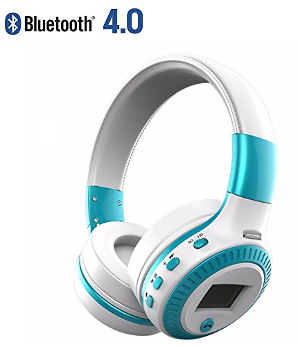 Click to buy [ Heavey Bass ] Zealot B19 Wireless Headphone Bluetooth 4.0 Lightweight foldable with 3.5mm AUX Mic support TF card / FM radio for iPhone Samsung Android (Blue) - From only $39.99