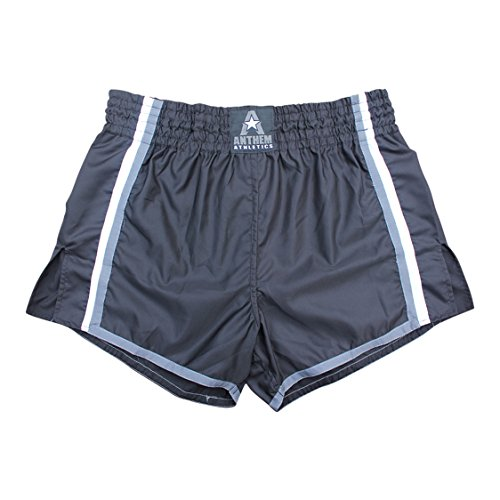 NEW! Anthem Athletics RESOLUTE Muay Thai Shorts - Kickboxing, Thai Boxing - Black, Grey & White - Medium
