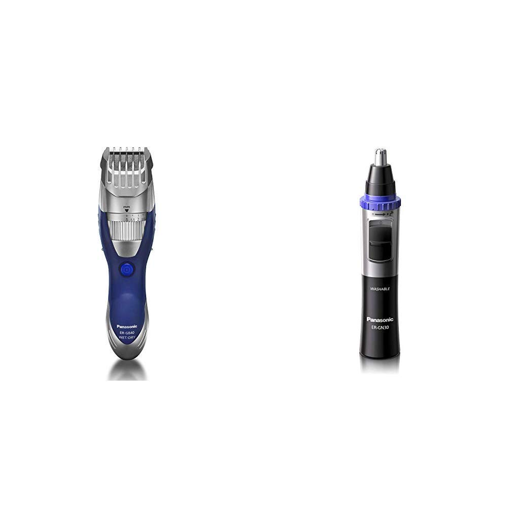 Panasonic Cordless Men's Beard Trimmer With Rechargeable Battery and Nose Hair Trimmer and Ear Hair Trimmer