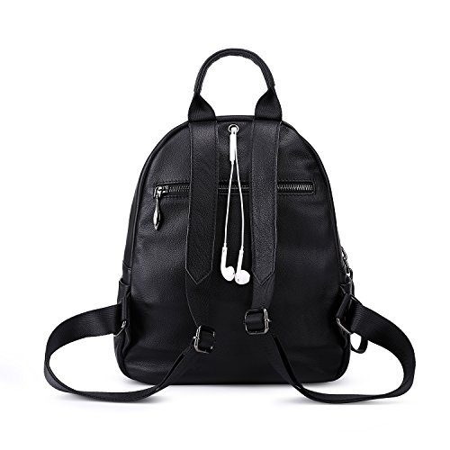 Backpack For Girls Casual Shoulder Black Pebble Blue Women Leather Soft College Bags For zxEYPpwpcq