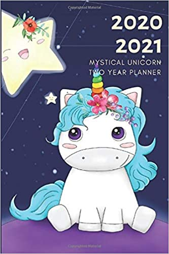 2 Year Planner 2020-2021 Mystical Unicorn Two Years Monthly ...