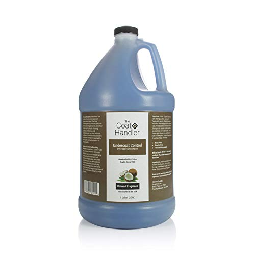 The Coat Handler Undercoat Control Dog Shampoo, 1 Gallon - Omega 3 & 6 Rich, Vitamin E, All Natural Ingredients, Soap and Cruelty Free
