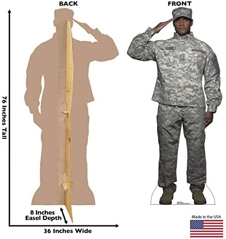 Advanced Graphics Digital Camo Soldier Life Size Cardboard Cutout Standup Home Kitchen